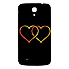 Heart Gold Black Background Love Samsung Galaxy Mega I9200 Hardshell Back Case by Nexatart