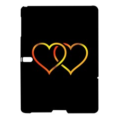 Heart Gold Black Background Love Samsung Galaxy Tab S (10 5 ) Hardshell Case  by Nexatart
