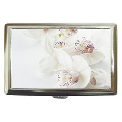 Orchids Flowers White Background Cigarette Money Cases