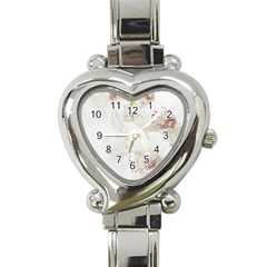 Orchids Flowers White Background Heart Italian Charm Watch