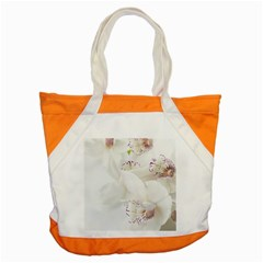 Orchids Flowers White Background Accent Tote Bag