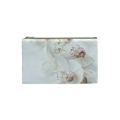 Orchids Flowers White Background Cosmetic Bag (small)  by Nexatart