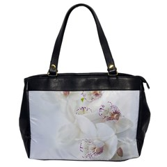 Orchids Flowers White Background Office Handbags by Nexatart