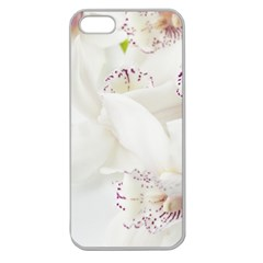 Orchids Flowers White Background Apple Seamless Iphone 5 Case (clear)