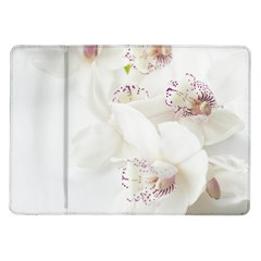 Orchids Flowers White Background Samsung Galaxy Tab 10 1  P7500 Flip Case