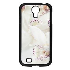 Orchids Flowers White Background Samsung Galaxy S4 I9500/ I9505 Case (black) by Nexatart