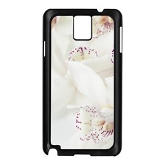 Orchids Flowers White Background Samsung Galaxy Note 3 N9005 Case (black)