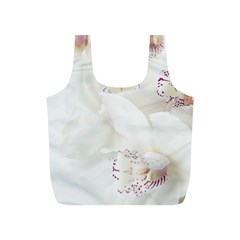 Orchids Flowers White Background Full Print Recycle Bags (s)  by Nexatart