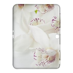 Orchids Flowers White Background Samsung Galaxy Tab 4 (10 1 ) Hardshell Case