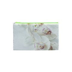 Orchids Flowers White Background Cosmetic Bag (xs)