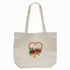 Heart Flowers Sign Tote Bag (cream)