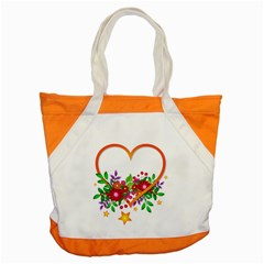 Heart Flowers Sign Accent Tote Bag by Nexatart