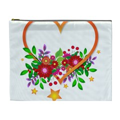 Heart Flowers Sign Cosmetic Bag (xl)