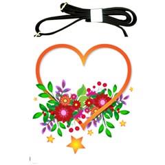 Heart Flowers Sign Shoulder Sling Bags by Nexatart