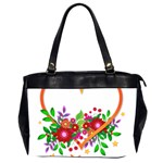 Heart Flowers Sign Office Handbags (2 Sides)  Front