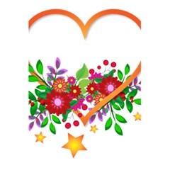 Heart Flowers Sign 5 5  X 8 5  Notebooks by Nexatart