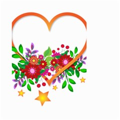 Heart Flowers Sign Small Garden Flag (two Sides) by Nexatart