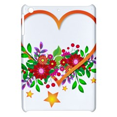 Heart Flowers Sign Apple Ipad Mini Hardshell Case by Nexatart