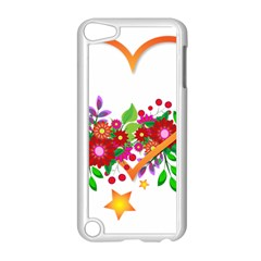 Heart Flowers Sign Apple Ipod Touch 5 Case (white)