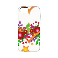Heart Flowers Sign Apple Iphone 5 Classic Hardshell Case (pc+silicone) by Nexatart