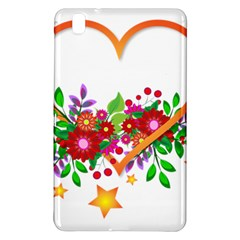 Heart Flowers Sign Samsung Galaxy Tab Pro 8 4 Hardshell Case