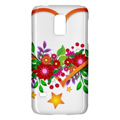 Heart Flowers Sign Galaxy S5 Mini by Nexatart