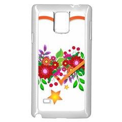 Heart Flowers Sign Samsung Galaxy Note 4 Case (white)