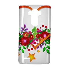 Heart Flowers Sign Lg G4 Hardshell Case by Nexatart