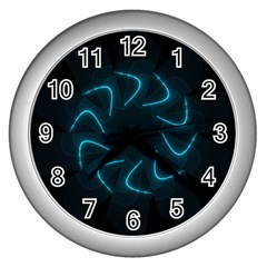 Background Abstract Decorative Wall Clocks (silver)  by Nexatart