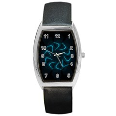 Background Abstract Decorative Barrel Style Metal Watch by Nexatart
