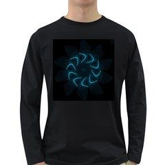 Background Abstract Decorative Long Sleeve Dark T Shirts