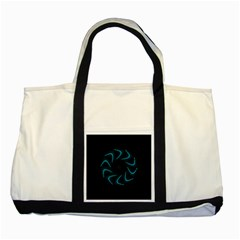 Background Abstract Decorative Two Tone Tote Bag