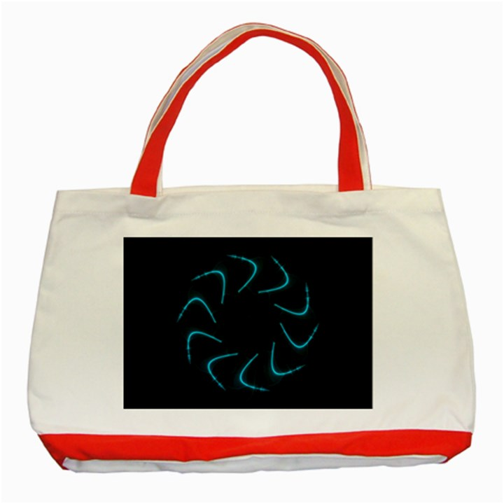 Background Abstract Decorative Classic Tote Bag (Red)