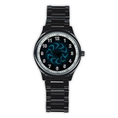 Background Abstract Decorative Stainless Steel Round Watch by Nexatart
