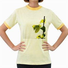 Leaves Nature Women s Fitted Ringer T Shirts