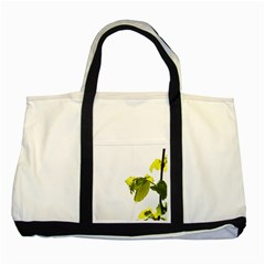 Leaves Nature Two Tone Tote Bag