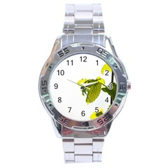 Leaves Nature Stainless Steel Analogue Watch by Nexatart