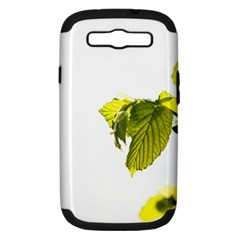 Leaves Nature Samsung Galaxy S Iii Hardshell Case (pc+silicone) by Nexatart