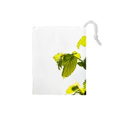 Leaves Nature Drawstring Pouches (small)