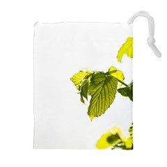 Leaves Nature Drawstring Pouches (extra Large) by Nexatart