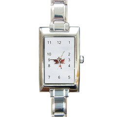Winter Maple Minimalist Simple Rectangle Italian Charm Watch by Nexatart