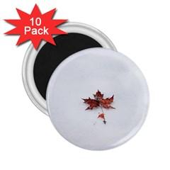 Winter Maple Minimalist Simple 2 25  Magnets (10 Pack)