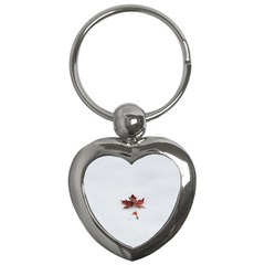 Winter Maple Minimalist Simple Key Chains (heart)  by Nexatart