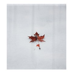 Winter Maple Minimalist Simple Shower Curtain 66  X 72  (large)  by Nexatart