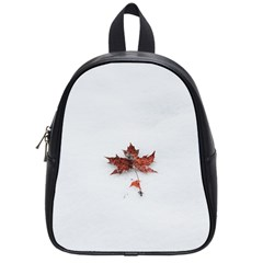 Winter Maple Minimalist Simple School Bags (small)  by Nexatart