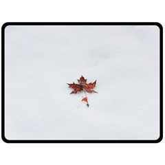 Winter Maple Minimalist Simple Fleece Blanket (large)