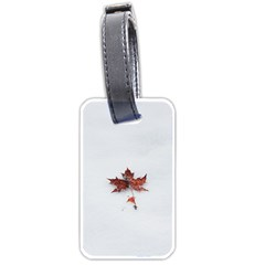 Winter Maple Minimalist Simple Luggage Tags (one Side)  by Nexatart