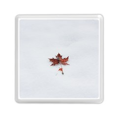 Winter Maple Minimalist Simple Memory Card Reader (square)