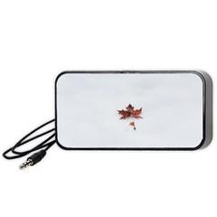 Winter Maple Minimalist Simple Portable Speaker (black) by Nexatart