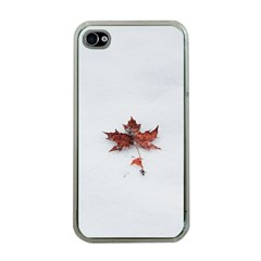 Winter Maple Minimalist Simple Apple Iphone 4 Case (clear)